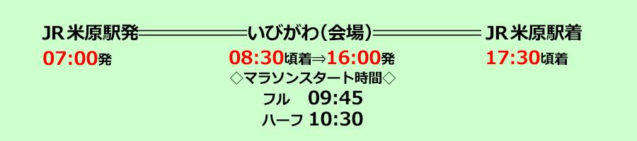 米原号 日程表